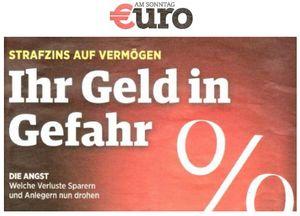 Strafzins auf Vermnögen - Ihr Geld in Gefahr - Euro am Sonntag